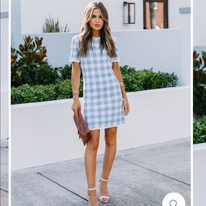 Vici knit gingham dress